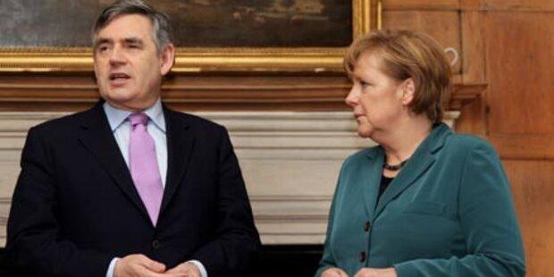 Merkel und Brown unterstützen Obama