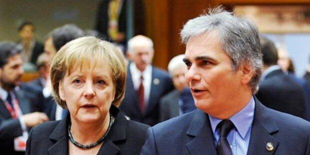Faymann will Merkel als Bündnispartnerin