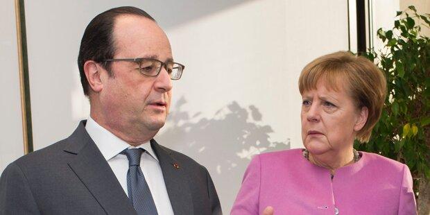 Merkel berät mit Hollande
