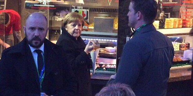 Hier gönnt sich Merkel Pommes