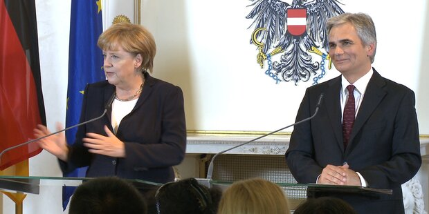 Wien: Angela Merkel zu Besuch bei Faymann