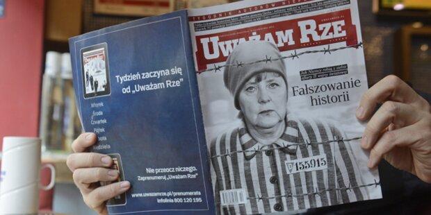 Magazin zeigt Angela Merkel in KZ-Uniform