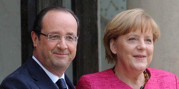 Merkel zu Besuch bei Hollande in Paris