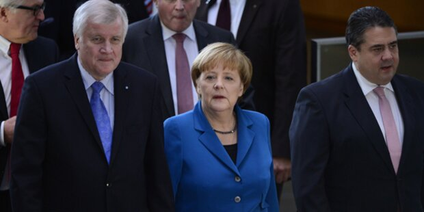 Deutsche Koalition unterschreibt Vertrag