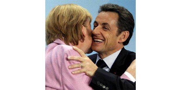 Merkel ist beim Begrüßen der Kollegen wählerisch