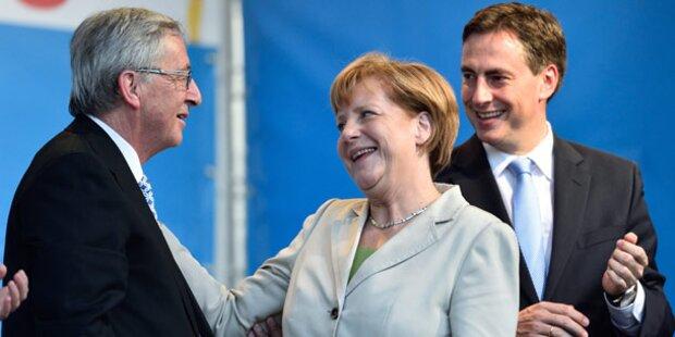 Merkel für Juncker als EU-Chef