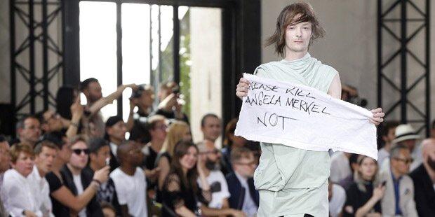 Model sorgt bei Modeschau für Eklat