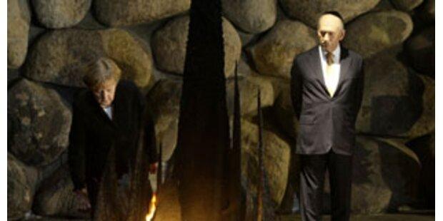 Merkel besuchte Holocaust-Gedenkstätte Yad Vashem