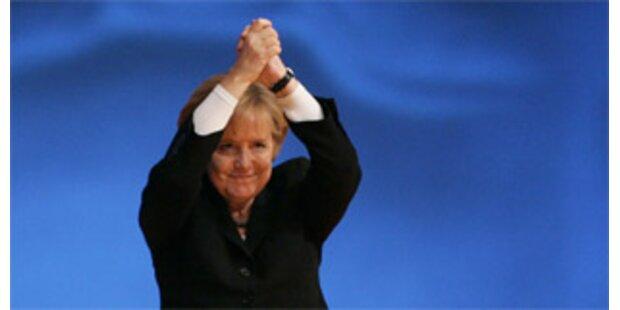Merkel mit 95 Prozent als CDU-Chefin wiedergewählt
