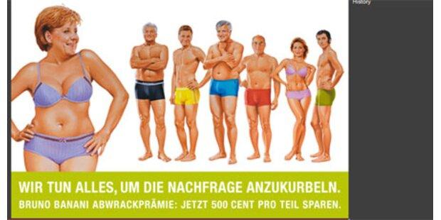 Modelabel wirbt mit halbnackter Merkel