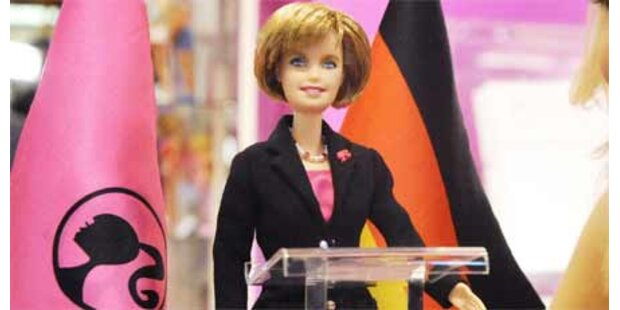 Angela Merkel als Barbie-Puppe
