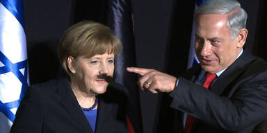 Merkel Netanyahu Hitler