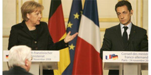 Merkel gibt Sarkozy einen Korb