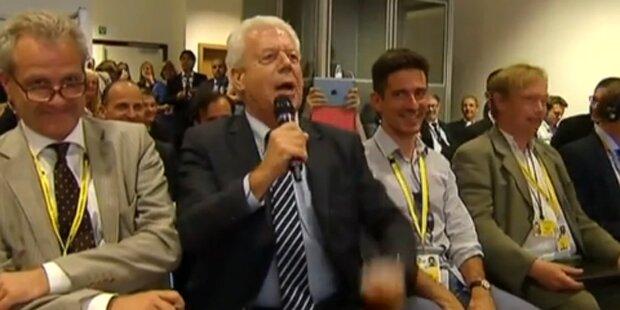 ZDF-Mann singt Merkel ein Ständchen