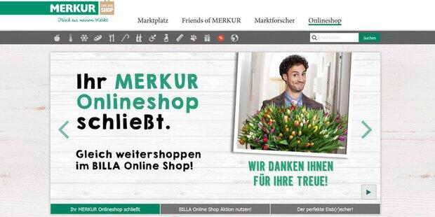 Merkur stellt seinen Online-Shop ein