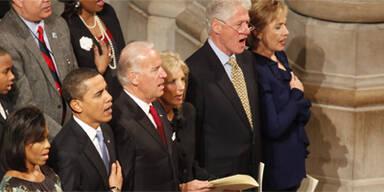 Obama begann ersten Arbeitstag mit Messe