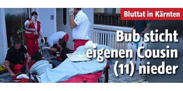Bub sticht eigenen Cousin (11) nieder