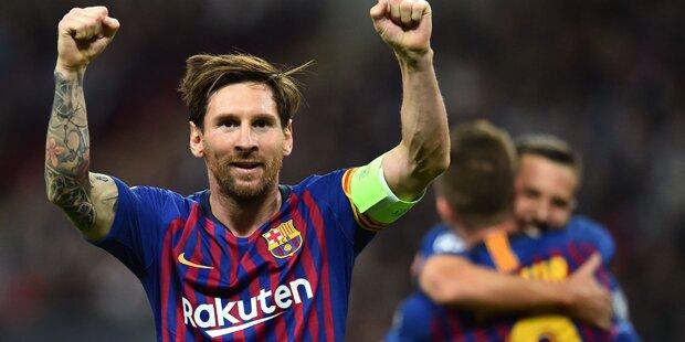 Messi-Show bei spektakulärem Barca-Sieg