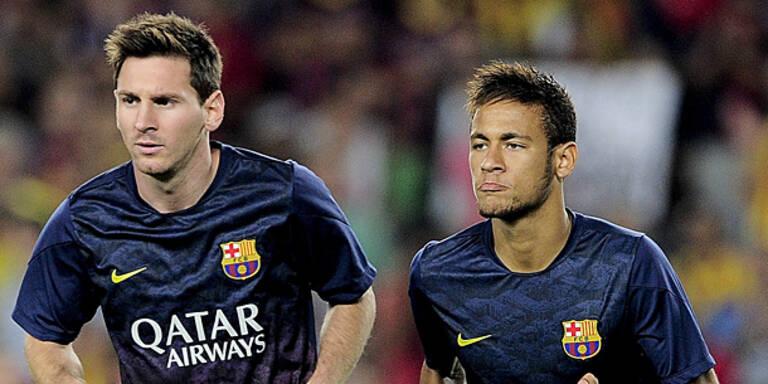 Erster Titel für Messi und Neymar