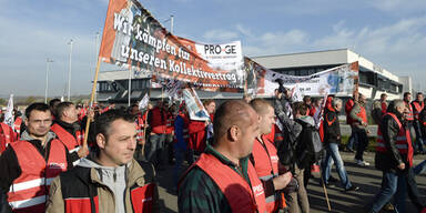 Metaller - Proteste in Wolkersdorf