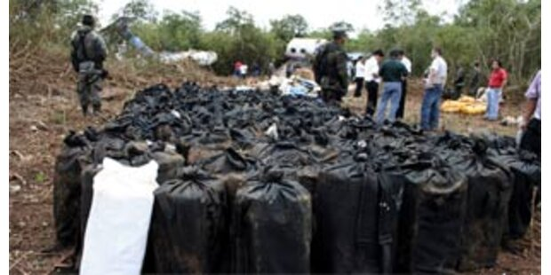 Gut 10 Tonnen Kokain in Mexiko beschlagnahmt