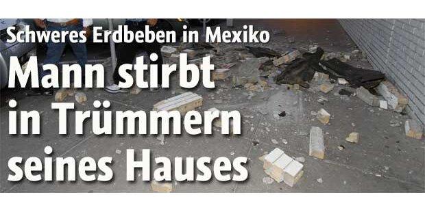 Mexikaner stirbt unter Haus-Trümmern