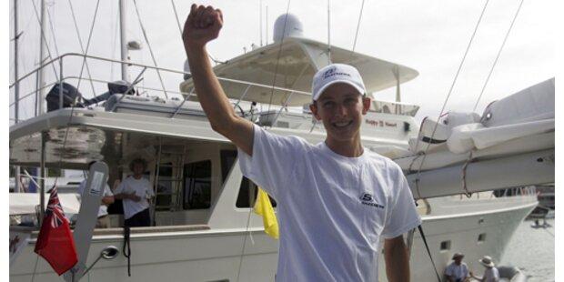 14-Jähriger segelte alleine über den Atlantik