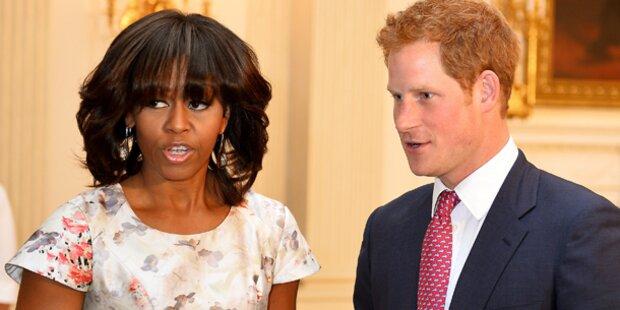 Prinz Harry besucht Michelle Obama