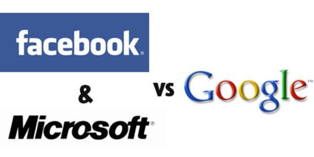 Microsoft und Facebook greifen Google an