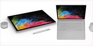 Microsoft bringt das Surface Book 2