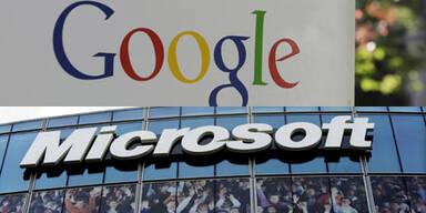 Microsoft & Google streiten um Software