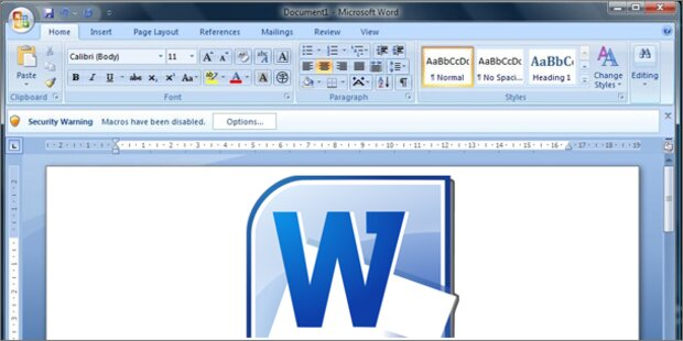 Vorsicht: Gravierende Lücke in Microsoft Word
