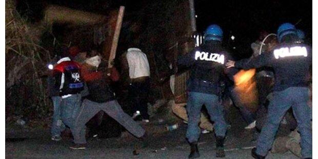 Migranten in Italien proben den Aufstand