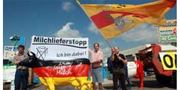Deutsche Milchbauern gehen auf die Straße