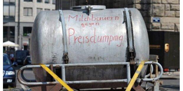 Milchbauern blockieren Pyhrnautobahn