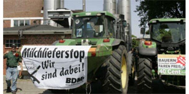 Deutsche Milchbauern streiken weiter