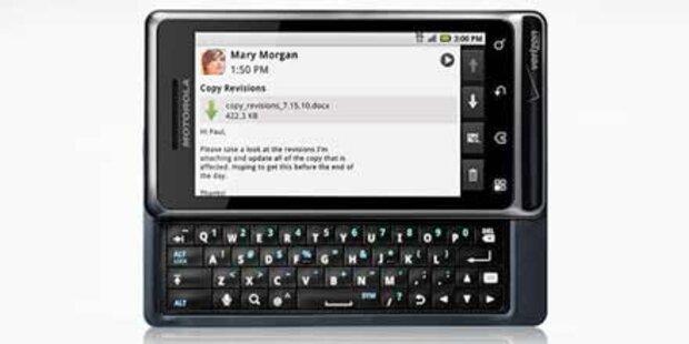 Motorola zeigt das Milestone/ Droid 2