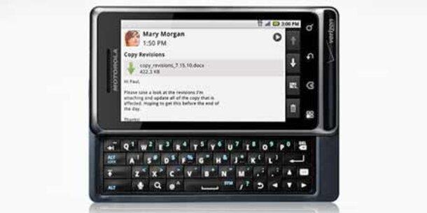 Motorola zeigt das milestone droid 2