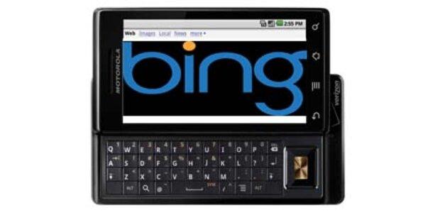 Motorola: China-Handys mit Microsoft Bing