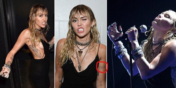 Miley Cyrus: Trennungstattoo bei MTV VMA's