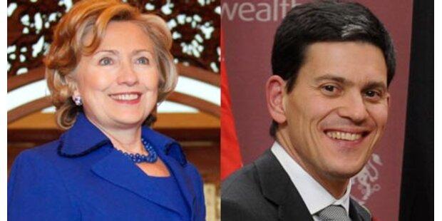 Hillary Clinton schwärmt für Miliband