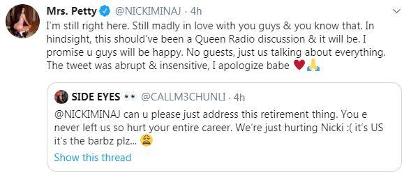 Twitter Nicki Minaj Screenshot