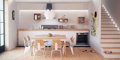 Einrichten eines minimalistischen Zimmers