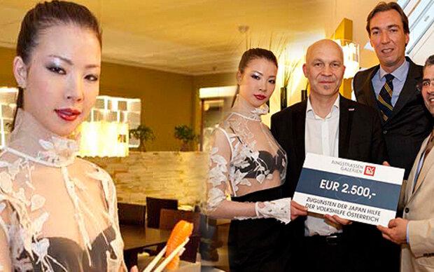 Miss Japan läuft für Emil Gampe