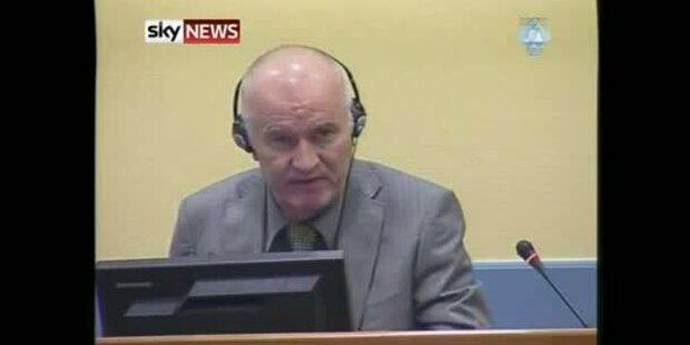 Mladic vor UN-Tribunal erschienen