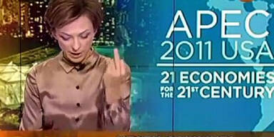 Moderatorin zeigt Obama den Finger