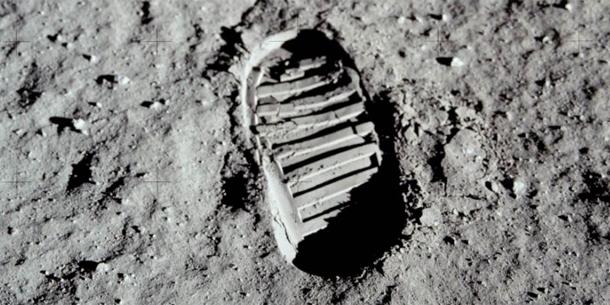 Mond Neil Armstrong Fußabdruck