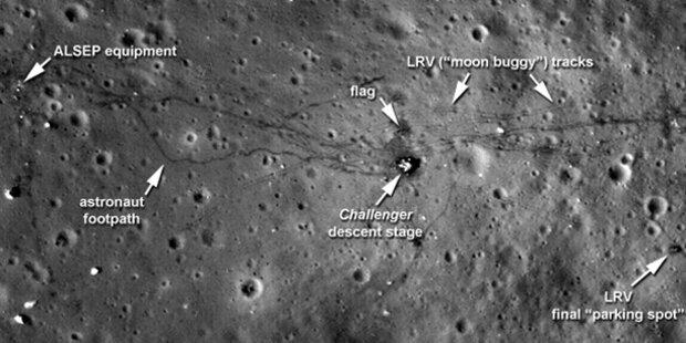 Neue Beiweisfotos für Mondlandung