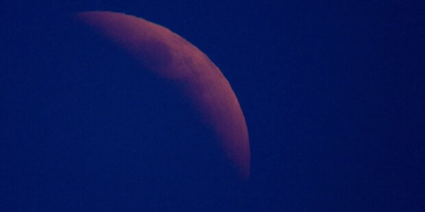Toller Anblick: Partielle Mondfinsternis
