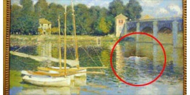 Fünf Festnahmen nach Faustschlag auf Monet-Bild